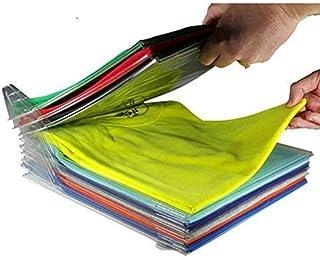 Liza Enterprise Clothes Wardrobe Oraganizer for Shirts,T-Shirts,Jeans, Plastic Closet Drawer Organizer Cabinet Folding Board Storage Rack Travel Closet Organizer(Pack of 10 Sheet)