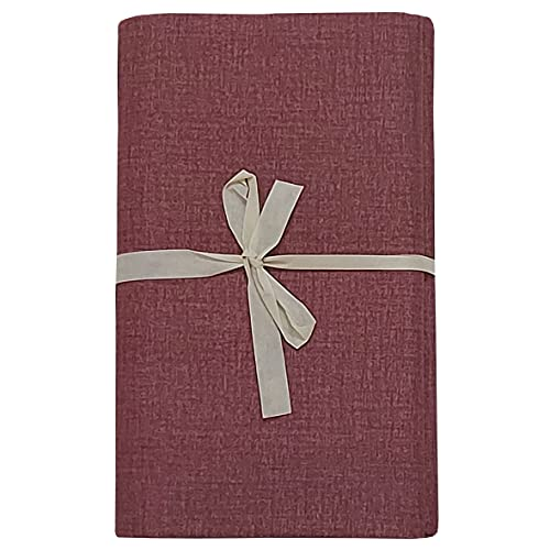 mediatex srl Gran foulard Sorrento - Toalla decorativa para cama de matrimonio de 2 plazas, 250 x 280 cm, fabricada en Italia (vino)