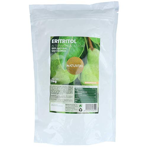 Naturitas Eritritol | 1kg | No tiene calorías | Apto para veganos | Perfecto para adelgazar | Mismo sabor que el azúcar | Antioxidante