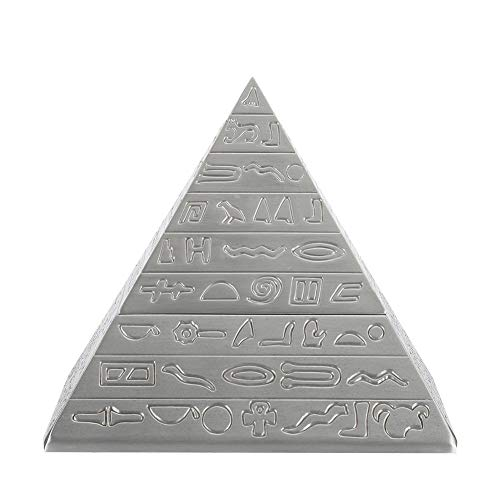 Creative Vintage Metal Ashtray with Cover Windproof Ashtray Retro Office Ornaments for Table Decor Egyptian Pyramids Shape(Antique Tin)