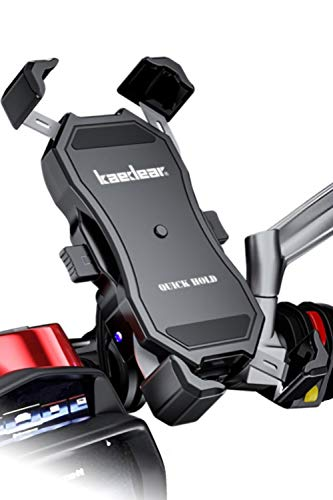 Kaedear(カエディア) スマホ ホルダー バイク ワイヤレス 充電 qi usb 携帯 ホルダー バイク用 【 クイック...