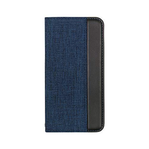 オウルテックiPhone11Proバイカラーデザイン手帳ケースファブリック素材THEネイビー×ブラックOWL-CVIB5803-NVBK