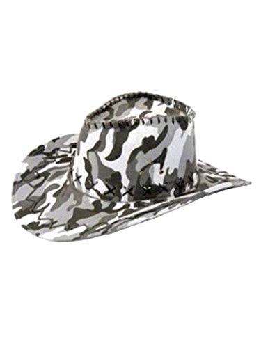Armardi d Chapeau de cowboy camouflage gris blanc