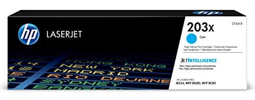 HP 203X (CF541X) Original Toner (mit hoher Reichweite für HP LaserJet Pro M254, HP LaserJet Pro M280, HP LaserJet Pro M281) blau