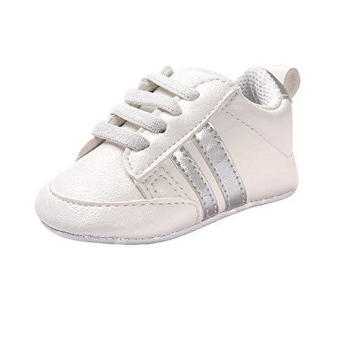 ❤️ Amlaiworld Zapatos de bebé Primeros Pasos Calzado Deportivo de Cuero Antideslizante...