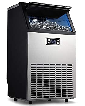 ADT Ice Mahcine Freestanding Stainless Steel Commercial Ice Maker Machine  Silver 99LB