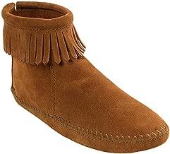 Minnetonka Women's Back Zipper Bootie,Softsole Brown,10 M US