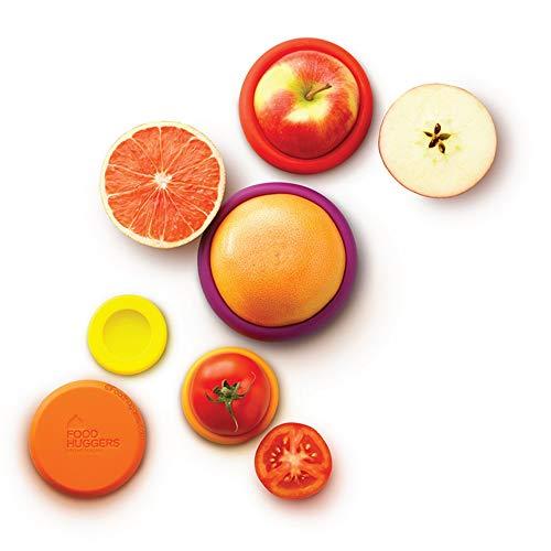 Food Huggers Set of 5 Reusable Silicone Food Savers