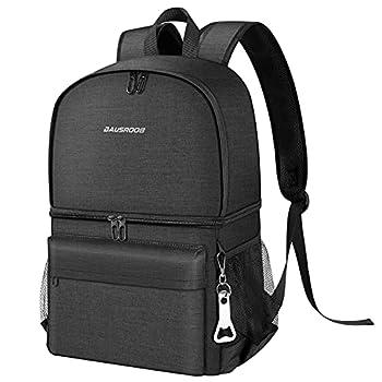 27L Sac à dos isotherme 2- en- 1 à Glacière Cooler Backpack Bag, Sac Isotherme Portable pour Déjeuner Plage Pique-Nique Camping BBQ