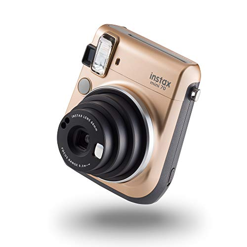 instax 70100133561 Mini 70 Kamera mit 10 Aufnahmen Stardust Gold