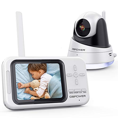 DBPOWER Video Baby Monitor, 3.5' LCD Baby Monitor with Camera and Audio Night...