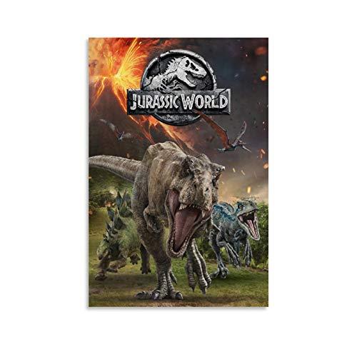 SSKJTC - Poster da parete in tela con motivo Jurassic World 2, 20 x 30 cm