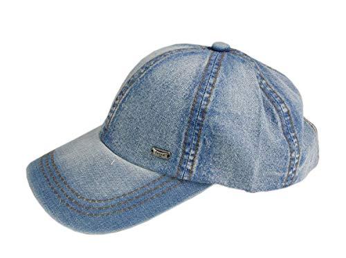 Leoodo Herren Damen Military Army Stil Cap aus Baumwolle verstellbare Sonnen Kappe für Wandern und Sport, Mütze Farbe 2020:Jeans Blue