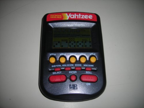 1995 Milton Bradley Yahtzee Hand Held Game, Works Great