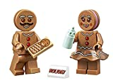 LEGO Gingerbread Family Combo - Gingerbread Man, Woman, and Baby Minifigure (with Holiday Display) 10267
