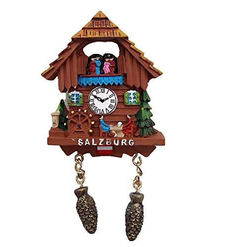 Kuckucksuhr Stil Salzburg Österreich 3D Kühlschrank Magnet Reise Souvenir Geschenk Home & Küche Dekoration Magnet Aufkleber Kühlschrank Magnet Kollektion