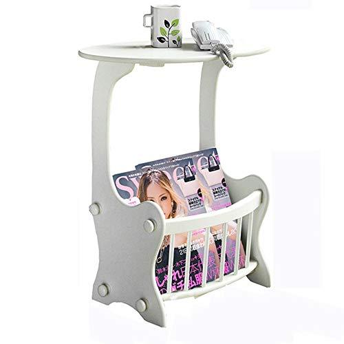 WECDS Mueble lateral giratorio para sofá, mesa auxiliar pequeña, mesa de café,...