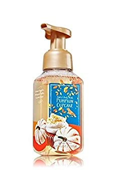 Bath and Body Works Pumpkin Cupcake Foaming Hand Soap 2016 Colorful Blue Label Design