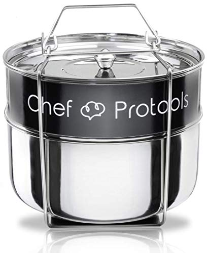 Chef Protools Stackable Steamer Insert Pans for Instant Pot - Pot in Pot Food Steamer