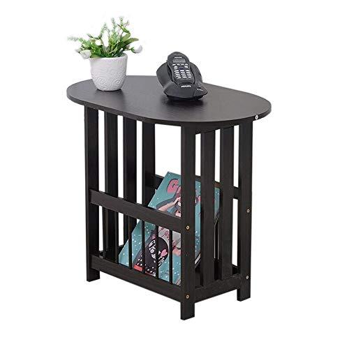 JCNFA planken opvouwbare bank tafel ovale slaapkamer nachtkastje woonkamer salontafel bank zijtafel telefoon tafel, 2 kleuren 22.24 * 14.56 * 19.29in Zwart
