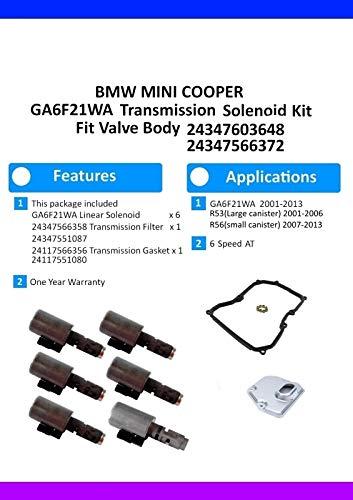 SINS GA6F21WA Transmission Filter Gasket Kit 24347566538 24347551087 24117566356 24117551080 Fit 24347603648 24347566372
