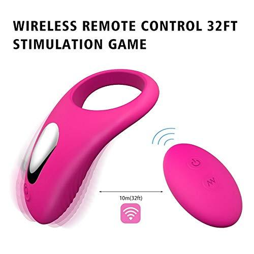 Ring Masseur Étanche Massager Portable Avec Contrôle à Distance 10 Modes