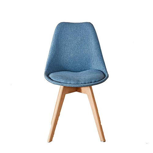 FTFTO Decoration Accessories Living Room Chairs Vanity Chairs Upholstered Makeup Chairs with Wood Legs for Bedroom Dinning Room Kitchen Vanity Patio (Color : Gray Size : 41x41x82cm)