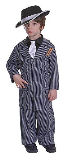 Bristol Novelty Cc384 Costume de Gangster pour Enfant,Taille S,Age 3–5 Ans, Multicolore, Small, Height 110-122 cm