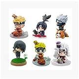 MNZBZ 6 unids/Set Figura de acción de Dibujos Animados de Naruto con Bestia psíquica Lindo Gaara Sas...