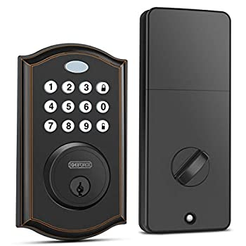 Keypad Deadbolt Lock Keyless Entry Door Lock with 50 Codes Easy to Install and Program Door Locks with Keypads Electronic Deadbolt with Auto-Lock and Alarm Top Security for Home and Office