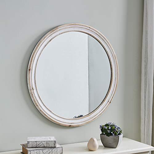 FirsTime & Co. Clybourne Farmhouse White Mirror, American...