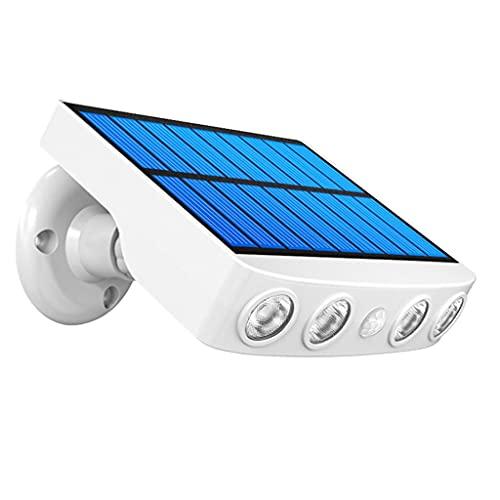 Luces de iluminación de seguridad solar portátil Luz del sensor de movimiento para el jardín Hogar, paisaje al aire libre Lámpara de pared solar de pared Forma de cámara de seguridad inalámbrico Decor