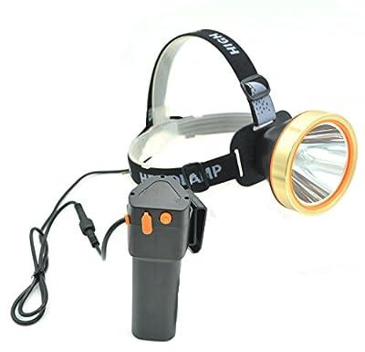 Eornmor LED Headlamp High Power Waterproof Rechargeable Headlight T6 Flashlight 15000mah 35W for Mining,Camping, Hiking, Fishing,Hunting