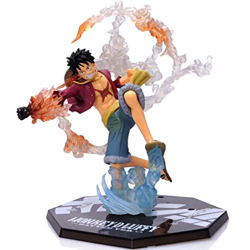 Polyer One Piece Figur Statue Actionfigur Sammelfigur Monkey D. Luffy/Portgas·D· Ace/Shanks/Sabo PVC Statue Kinder Spielen Spielzeugpuppen, Mehrfarbig