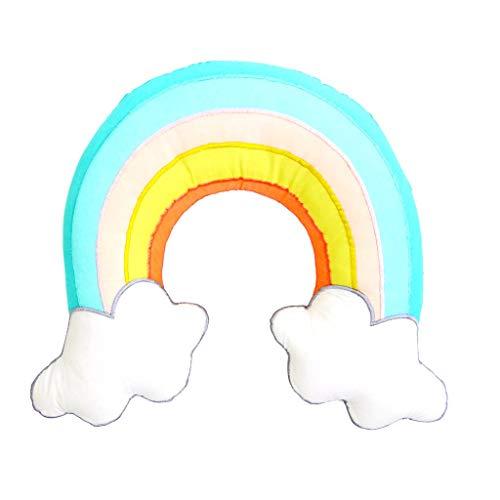 RICE Kissen in Regenbogenform bunt