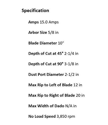 DEWALT DW745 10-Inch Table Saw, 20-Inch Rip Capacity