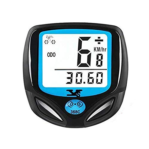 DINOKA Bike Speedometer Waterproof Wireless Bicycle Bike Computer and Cycling Odometer with Automatic Wake-up Multi-Function LCD Backlight Display (B-368)