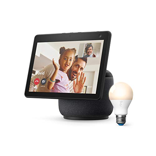 Amazon Echo Show 10 Smart Display w/ Motion (3rd Gen, 2021) + Ring A19 Smart LED Bulb  $200 at Amazon