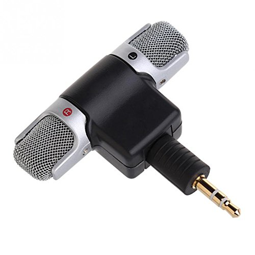 C-Pioneer 1pc New Mini Stereo Microphone Mic 3.5mm Mini Jack PC Laptop Notebook