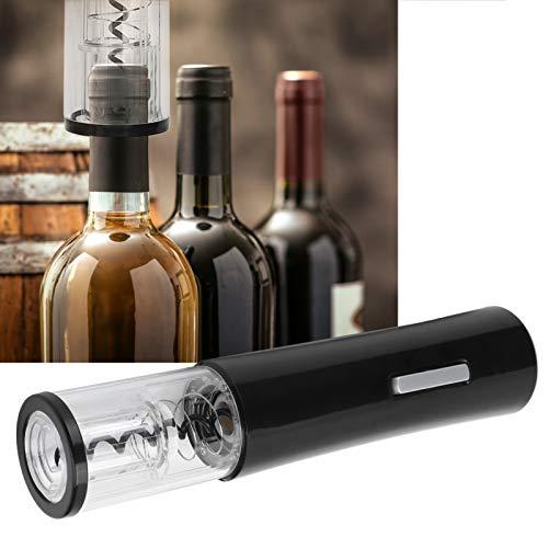 SALALIS Abridor de Vino eléctrico Sacacorchos automático Abridor de Vino para Abrir Vino Tinto Negro ABS