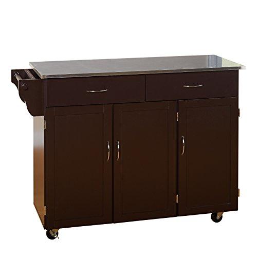 Target Marketing Systems XL Kitchen Cart, X-Large, Espresso