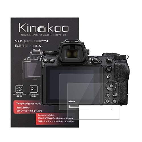 kinokoo 液晶保護フィルム ニコン Nikon Z6II専用 硬度9H 高透過率 耐指紋 気泡無し 強化ガラス 厚さ0.3mm 2枚セット 標識クロス付き(Z6II専用)