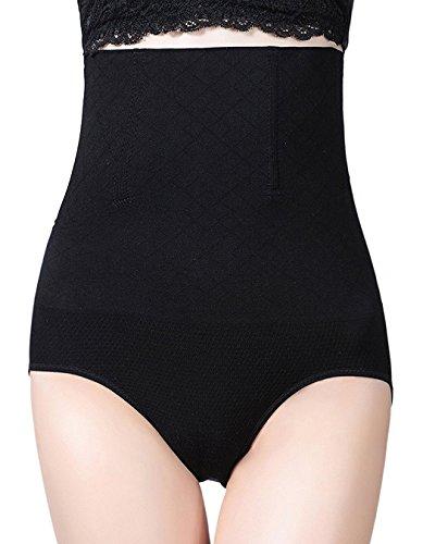 AMAGGIGO Shapewear - Braga Faja Reductora y Moldeadora Invisible para Mujer (XXXL=2XL (Fits Waist 36-40 Inch), Negro-A)