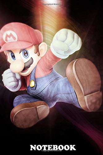 Notebook: First Generation Of Super Smash Bros Mario , Journal for Writing, College Ruled Size 6' x 9', 110 Pages