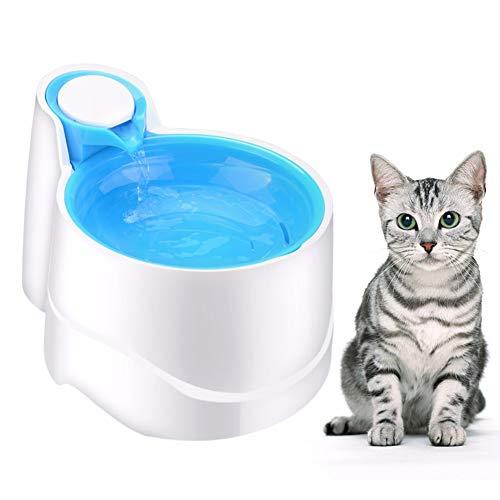 WLDOCA Luz Nocturna automática Fuente de Agua del Gato del Perro casero, Cuencos de consumición del dispensador del Agua de la Fuente eléctrica de 2.5 litros USB