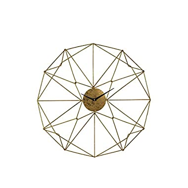 Sterling Home Decorative Angular Wirework Wall Clock - Gold