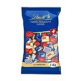 Lindt Napolitains Mini Schokoladentafeln   1 KG im Beutel   Milchschokolade, Weiße Schokolade und Schokolade mit Nuss   Ideale Schokoladen Großpackung für Adventskalender 2021