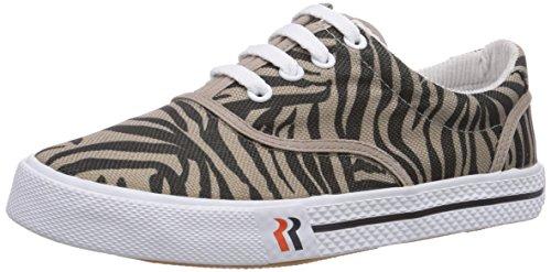ROMIKA Soling Zebra, Chaussures Bateau Femme - Noir - Schwarz (Schwarz-Taupe 147), 41 EU