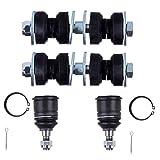 cciyu - Enlaces de barra estabilizadora delantera para Honda Civic 1988 1989 1990 1991 Honda CRX 4 piezas Kit de suspensión
