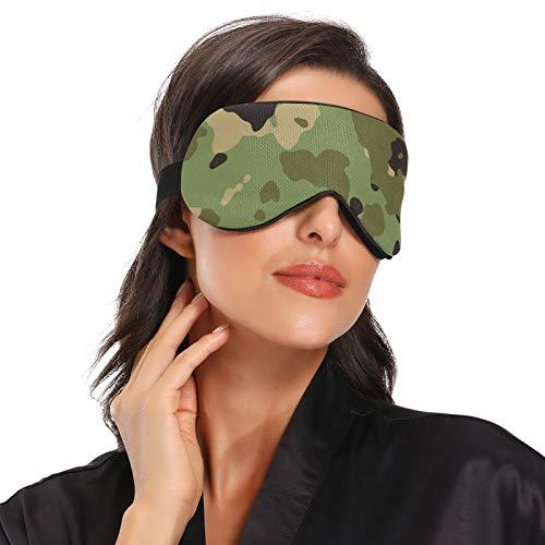 Schlafmaske mit Camouflage-Muster, für Nachtschlafen, Reisen, Nickerchen